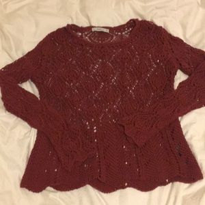 Zara knit crochet sweater. Sz L
